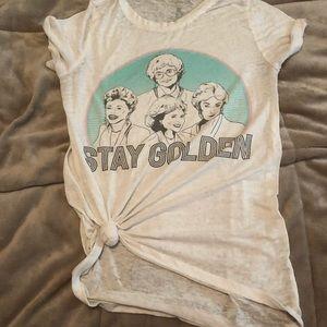 Tops - Golden girls stay golden T sz Medium